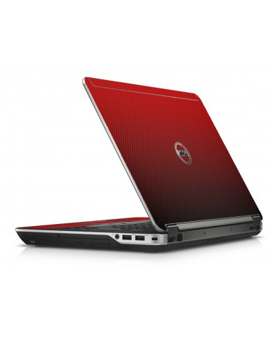 Red Carbon Fiber Dell E6440 Laptop Skin