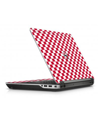 Red Checkered Dell E6440 Laptop Skin