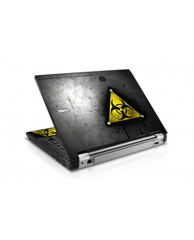 Black Caution Dell E6500 Laptop Skin