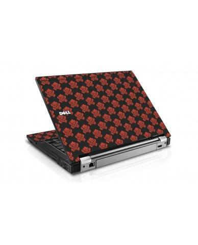 Black Flower Burst Dell E6500 Laptop Skin