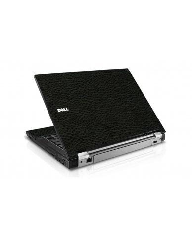 Black Leather Dell E6500 Laptop Skin