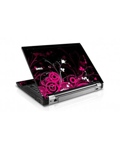 Black Pink Butterfly Dell E6500 Laptop Skin
