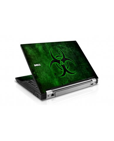 Green Biohazard Dell E6500 Laptop Skin