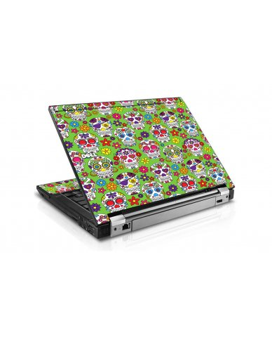 Green Sugar Skulls Dell E6500 Laptop Skin