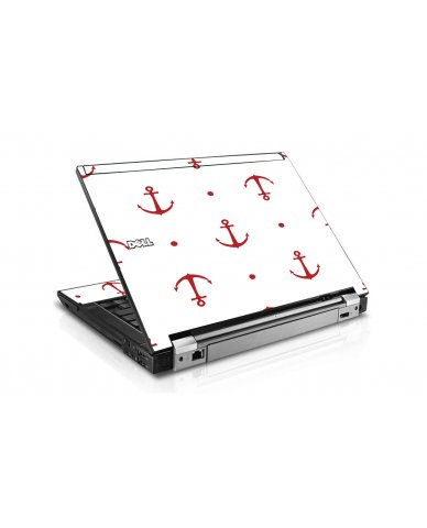 Red Anchors Dell E6500 Laptop Skin
