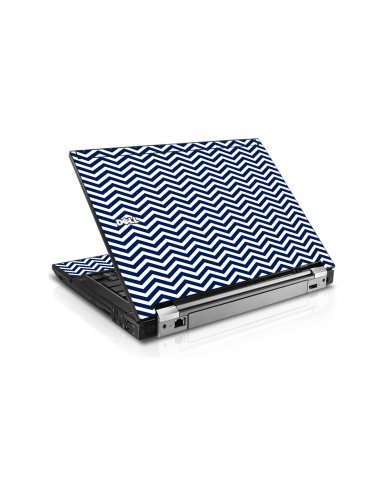 Blue Wavy Chevron Dell E6510 Laptop Skin