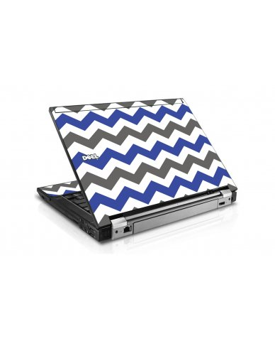 Grey Blue Chevron Dell E6510 Laptop Skin