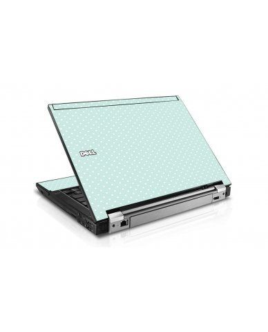Light Blue Polka Dell E6510 Laptop Skin
