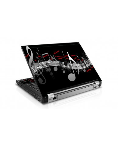 Music Notes Dell E6510 Laptop Skin