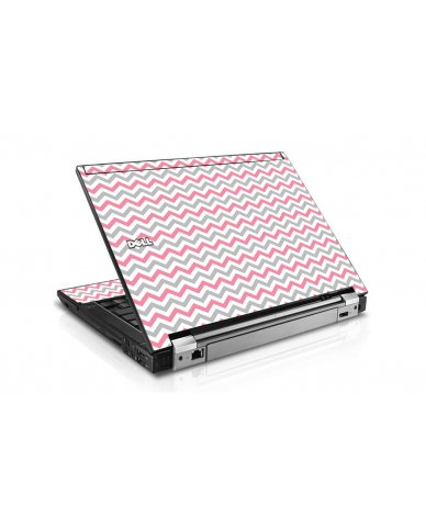 Pink Grey Chevron Waves Dell E6510 Laptop Skin