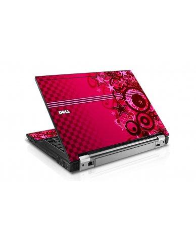 Pink Grunge Stars Dell E6510 Laptop Skin