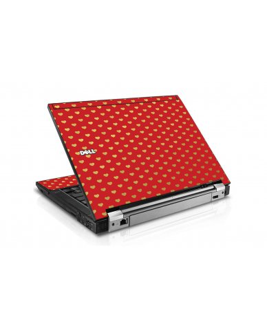 Red Gold Hearts Dell E6510 Laptop Skin