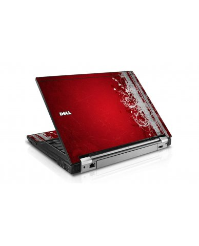 Red Grunge Dell E6510 Laptop Skin