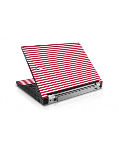 Red Stripes Dell E6510 Laptop Skin