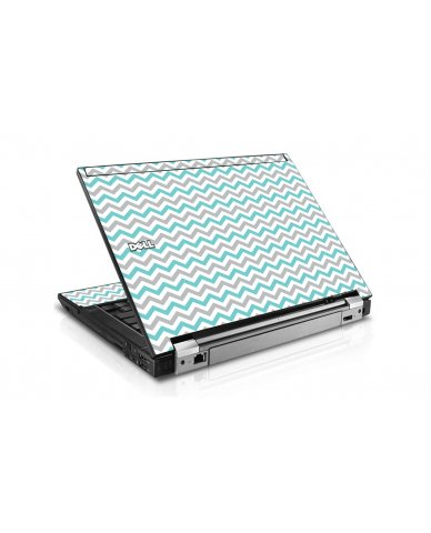 Teal Grey Chevron Waves Dell E6510 Laptop Skin