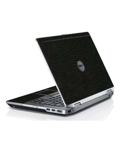 Black Leather Dell E6520 Laptop Skin