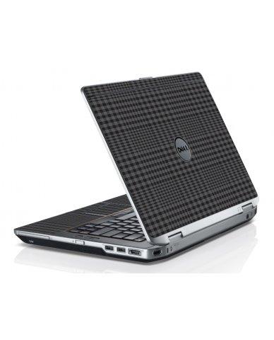 Black Plaid Dell E6520 Laptop Skin