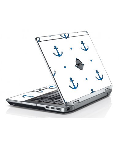 Blue Anchors Dell E6520 Laptop Skin