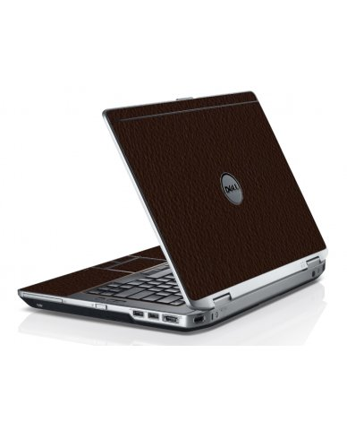 Brown Leather Dell E6520 Laptop Skin