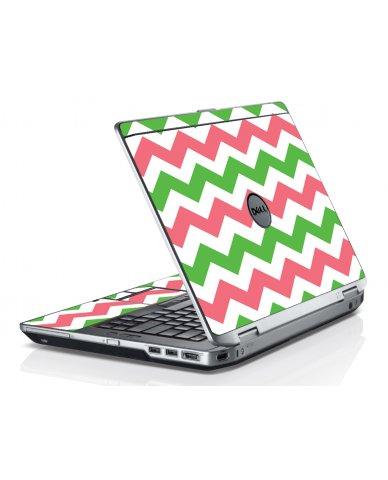 Green Pink Chevron Dell E6520 Laptop Skin