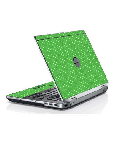 Kelly Green Polka Dell E6520 Laptop Skin