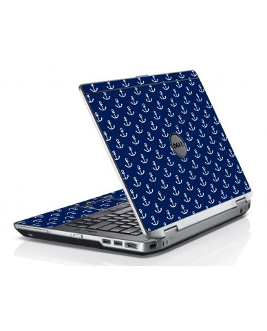 Navy White Anchors Dell E6520 Laptop Skin