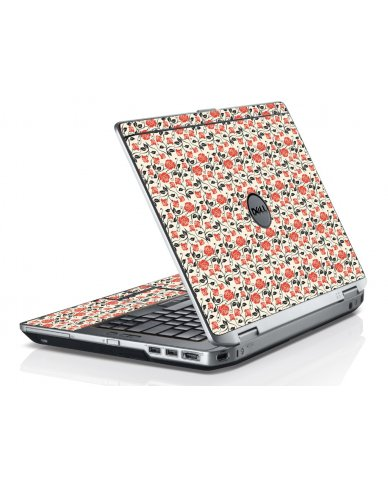 Pink Black Roses Dell E6520 Laptop Skin