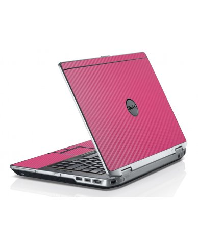 Pink Carbon Fiber Dell E6520 Laptop Skin