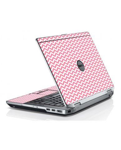 Pink Chevron Waves Dell E6520 Laptop Skin