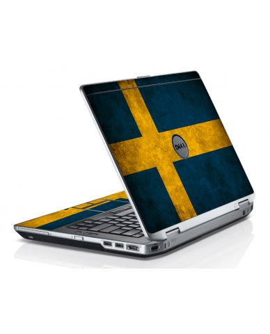 Swedish Flag Dell E6520 Laptop Skin