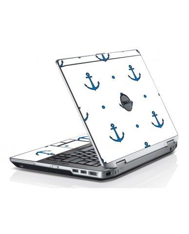 Blue Anchors Dell E6530 Laptop Skin