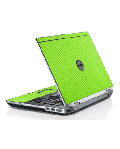 Green Carbon Fiber Dell E6530 Laptop Skin