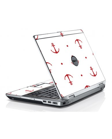 Red Anchors Dell E6530 Laptop Skin