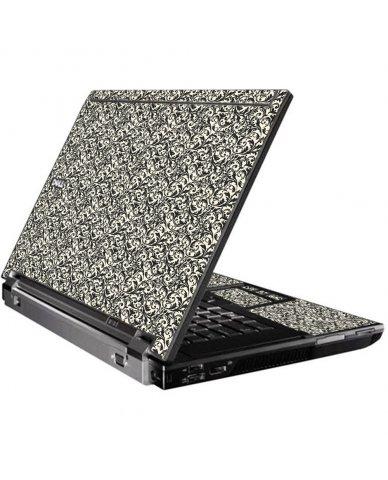 Black Versailles Dell M4400 Laptop Skin