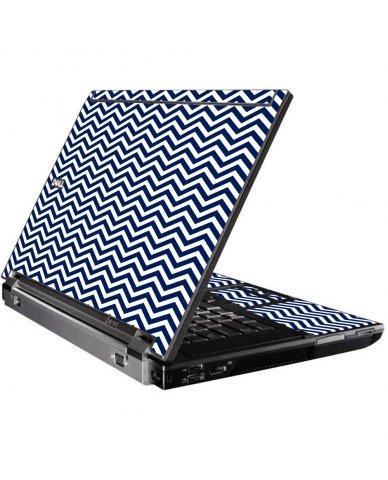 Blue Wavy Chevron Dell M4400 Laptop Skin