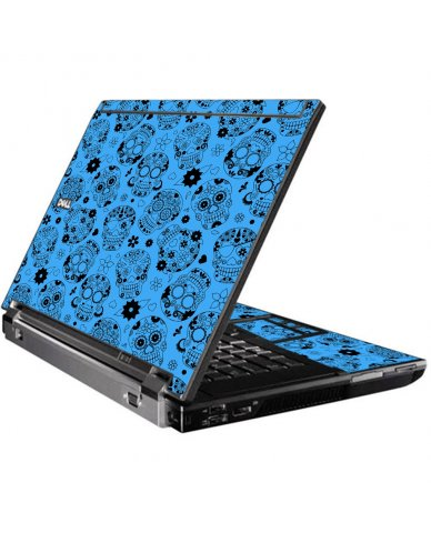Crazy Blue Sugar Skulls Dell M4400 Laptop Skin