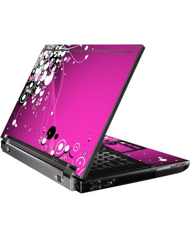 Pink Flowers Dell M4400 Laptop Skin