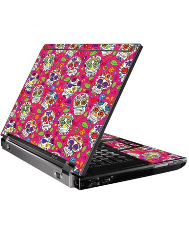 Pink Sugar Skulls Dell M4400 Laptop Skin