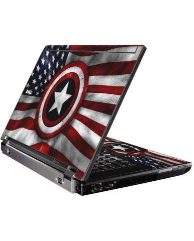 Capt America Flag Dell M4500 Laptop Skin