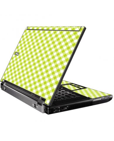 Green Checkered Dell M4500 Laptop Skin