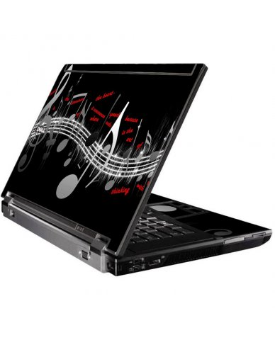 Music Notes Dell M4500 Laptop Skin