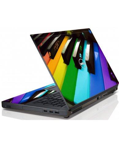 Colorful Piano Dell M4600 Laptop Skin
