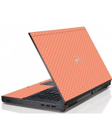 Coral Polka Dot Dell M4600 Laptop Skin