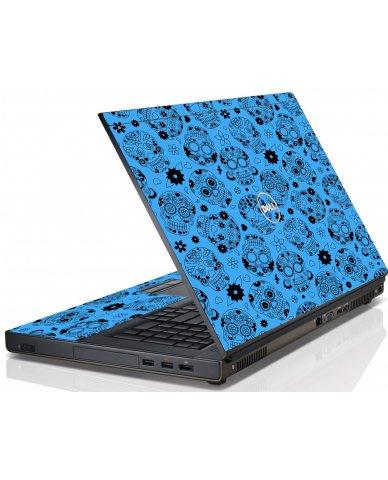 Crazy Blue Sugar Skulls Dell M4600 Laptop Skin
