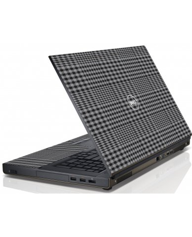 Darkest Grey Plaid Dell M4600 Laptop Skin