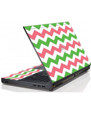 Green Pink Chevron Dell Me4600 Laptop Skin