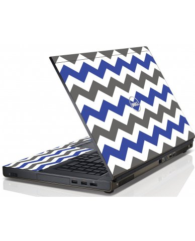 Grey Blue Chevron Dell M4600 Laptop Skin