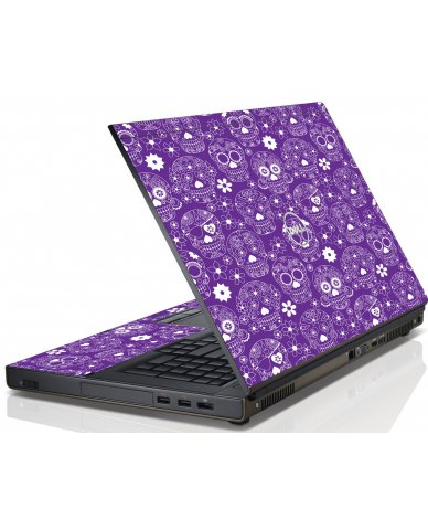 Purple Sugar Skulls Dell M4600 Laptop Skin