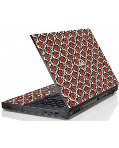 Red Black 5 Dell M4600 Laptop Skin