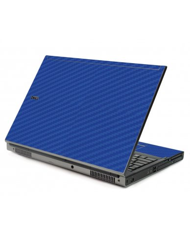 Blue Carbon Fiber Dell M6400 Laptop Skin